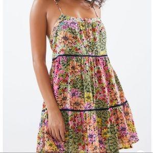 UO Honey Tiered Frock Mini Dress